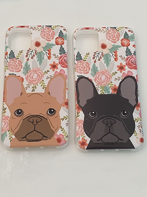 Cover iPhone 11 - French Bulldog Flower