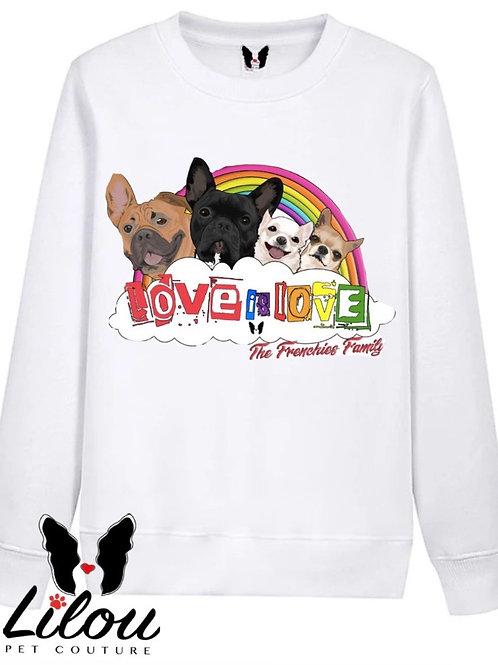 Felpa personalizzata - love is love