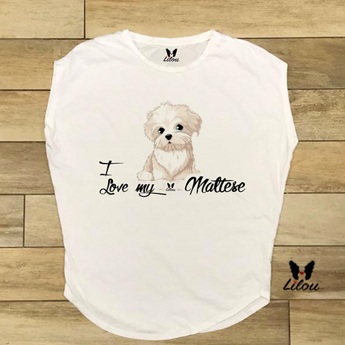 T-shirt donna OVETTO - LOVE MALTESE