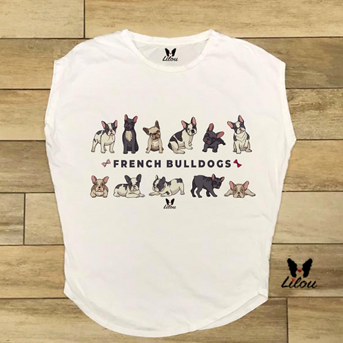 T-shirt donna OVETTO - FRENCH BULLDOGS