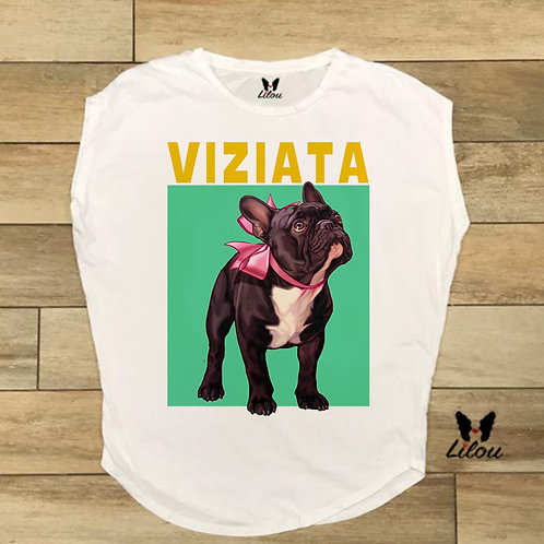 T-shirt donna OVETTO - BULLDOG VIZIATA
