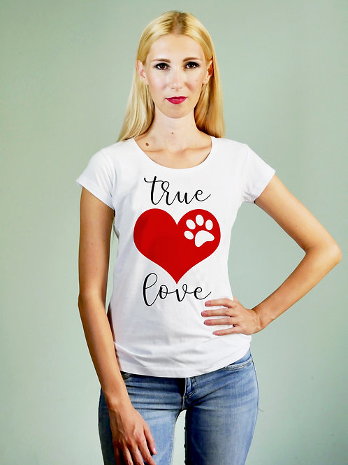 T-shirt donna True Love
