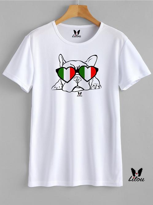 T-shirt Uomo - BULDDOG FRANCESE - FRENCHIE ITALIAN