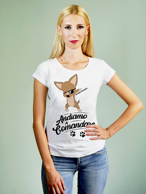 T-shirt donna Andiamo a Comandare
