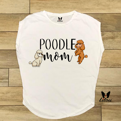 T-shirt donna OVETTO - POODLE MOM