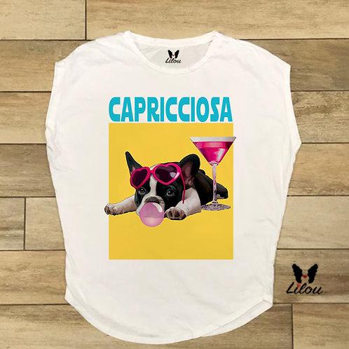 T-shirt donna OVETTO - BULLDOG CAPRICCIOSA