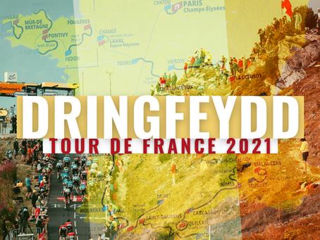 Dringfeydd Allweddol Tour de France 2021