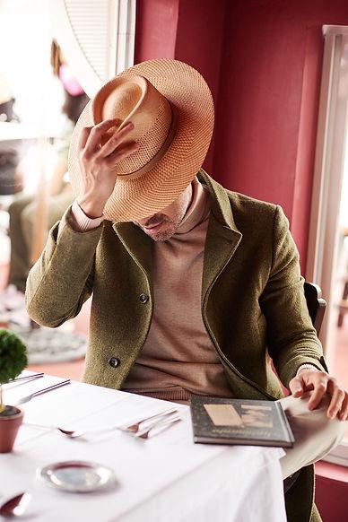 Hat Model_ Gambler Brisa Liso Weaving -