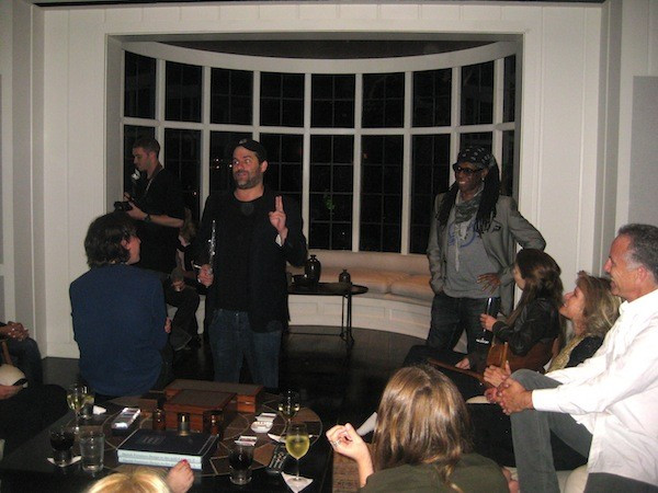 Party for Nile Rodgers at Brett Ratner's house