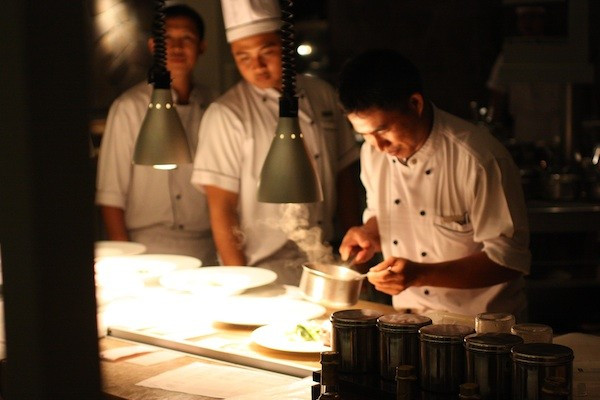 chefs at work in Bali