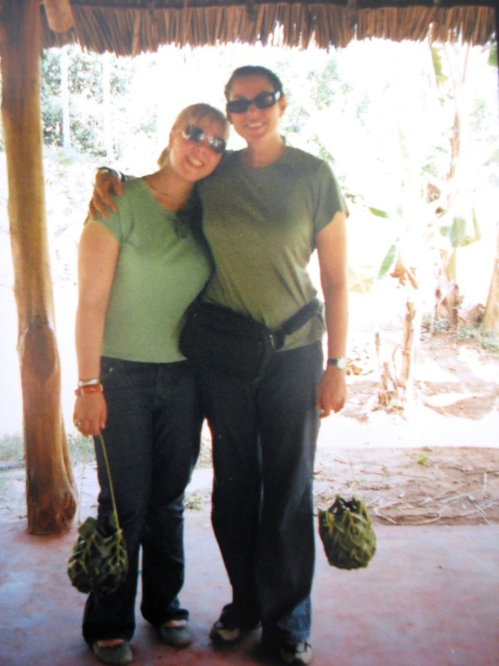 Tatjana and Julie Anne Rhodes at spice plantation in Zanzibar