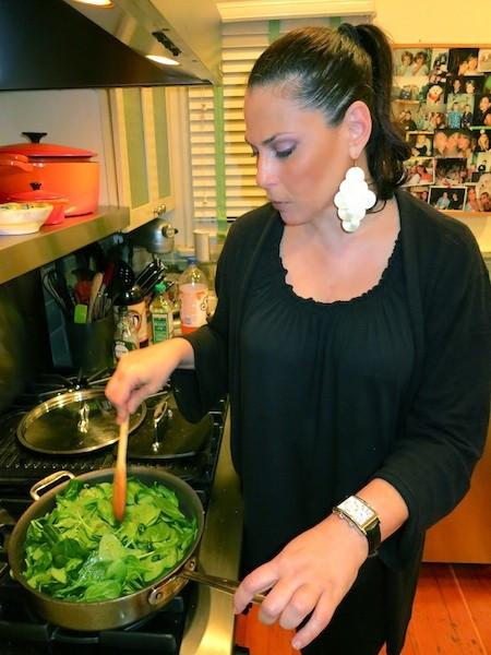 Julie Anne Rhodes cooking