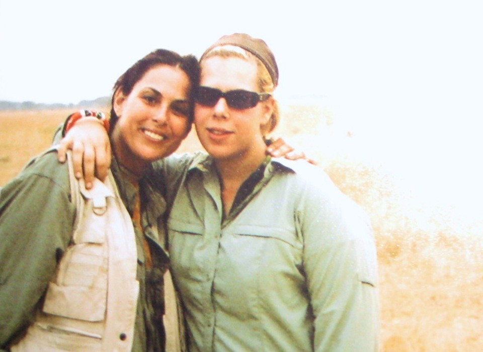 Julie Anne and Tatjana Rhodes on safari in East Africa