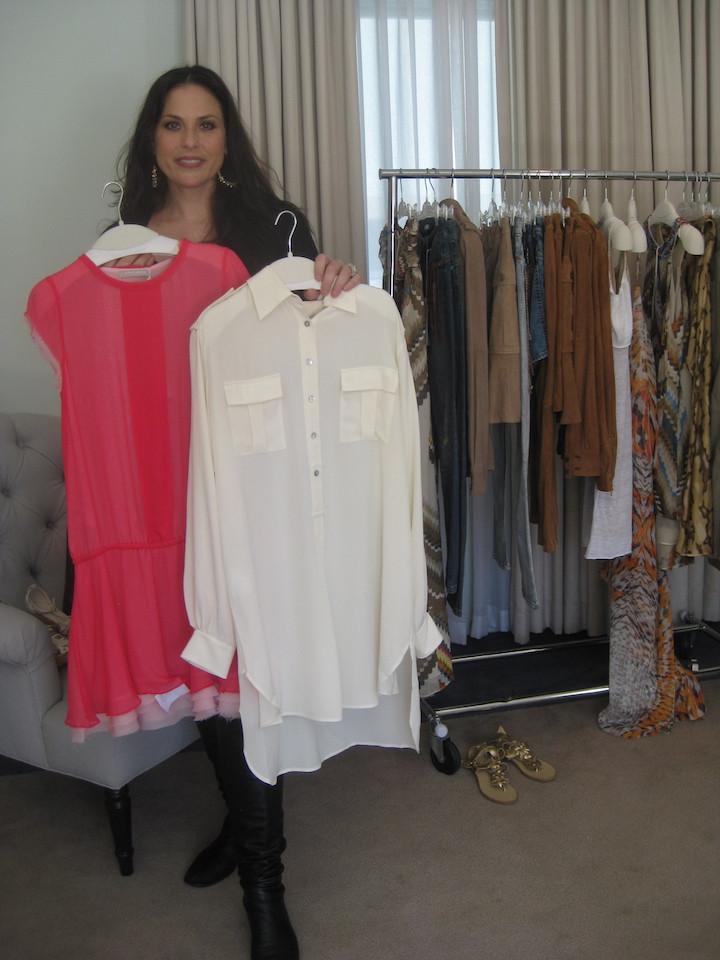 Julie Anne Rhodes at Stefanel private showroom