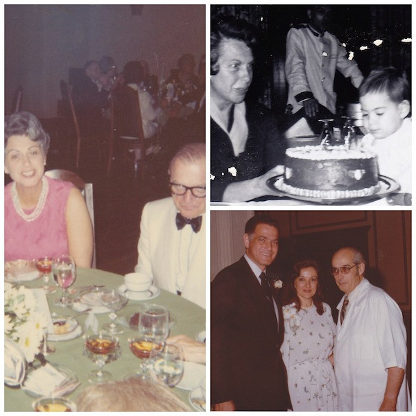 My grandparents, my second birthday, and Mom and Dad on their 25th wedding anniversary