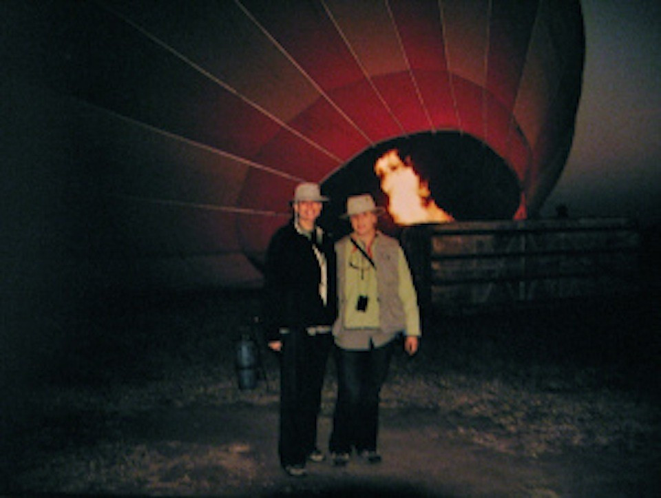 Julie Anne and Tatjana Rhodes hot air ballooning