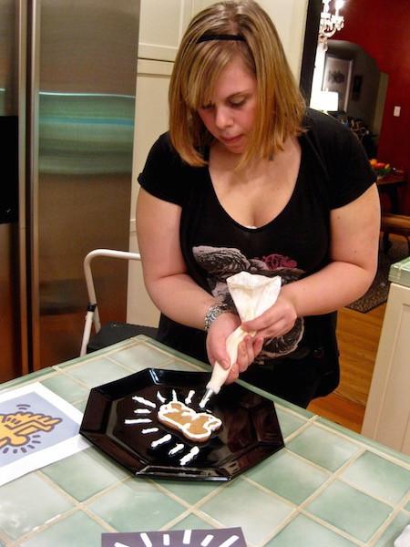 pop art gingerbread cookies