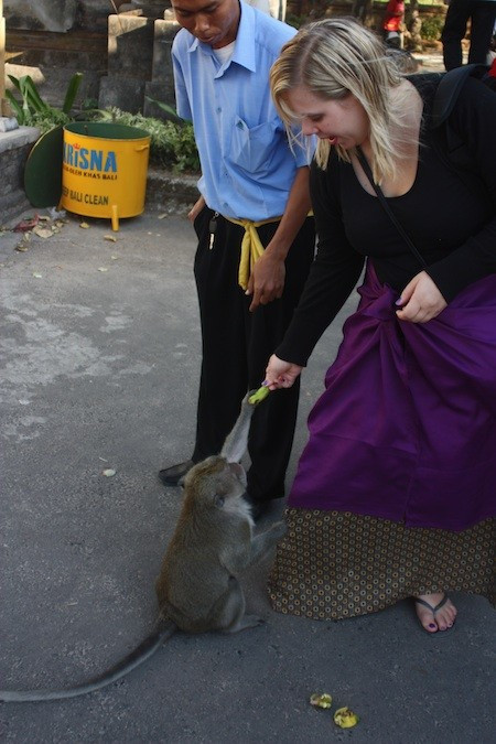 Tatjana Rhodes with monkey