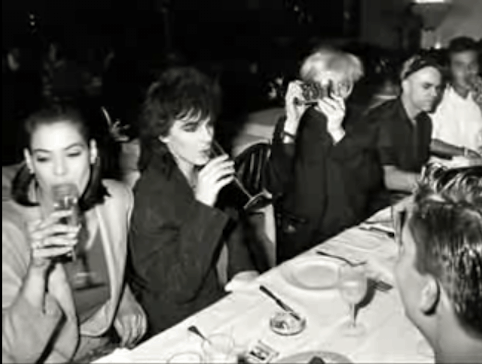Julie Anne and Nick Rhodes, Andy Warhol, and Steven Sprouse,