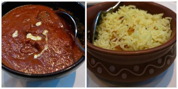 Lamb Tikka Masala and Lemon Basmati Rice with Cashews