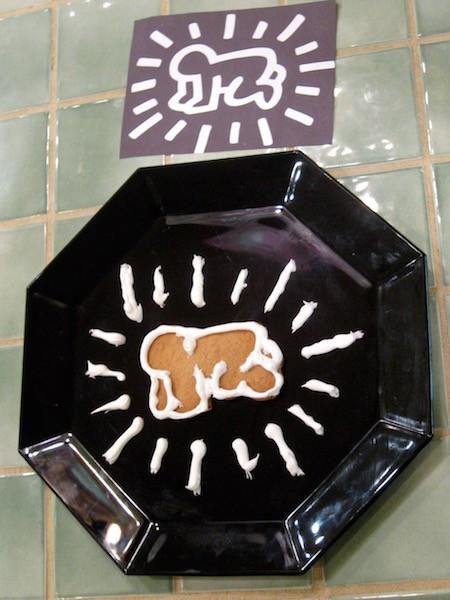 Keith Haring gingerbread cookies