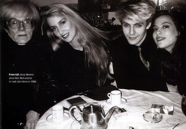 Andy Warhol, Jerry Hall, Nick and Julie Anne Rhodes