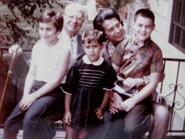 With my cousins Jane and Larry, Grandma Ellie, and Big Grandpa Mandelbaum
