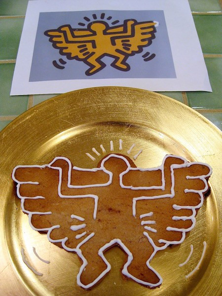 Keith Haring angel gingerbread