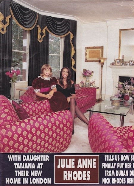 Tatjana and Julie Anne Rhodes in Hello Magazine