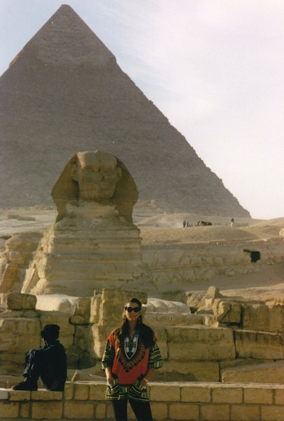 Julie Anne Rhodes exploring Egypt