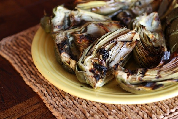 Marinated Grilled Artichokes