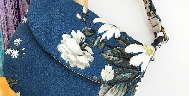 """Agatha"" - Vintage floral fabric bag"