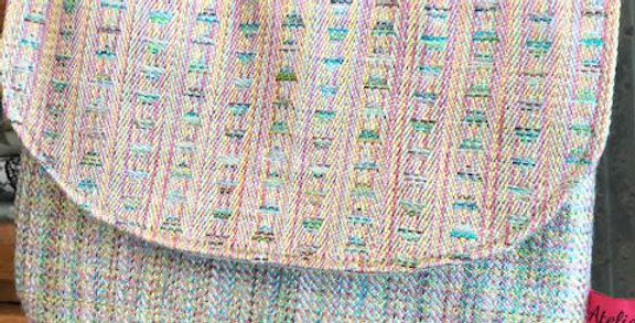 Hand woven silk bag