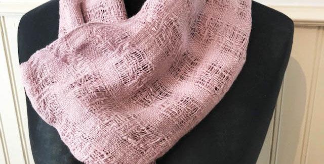 Hand woven linen scarf