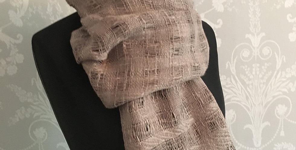 Hand woven linen wrap
