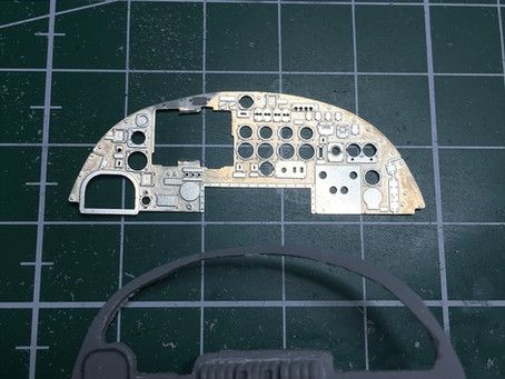HK Models 1/32 Lancaster Model - Day 4 -  Pilot instrument panel & Turrets