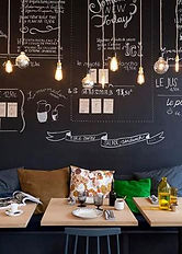 functional paints, chalkboard paint on wall