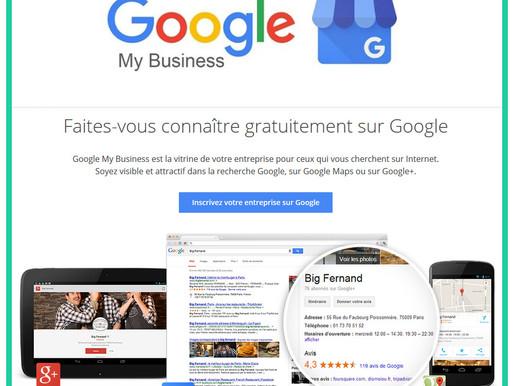 Google My Business - Indispensable pour toutes entreprises