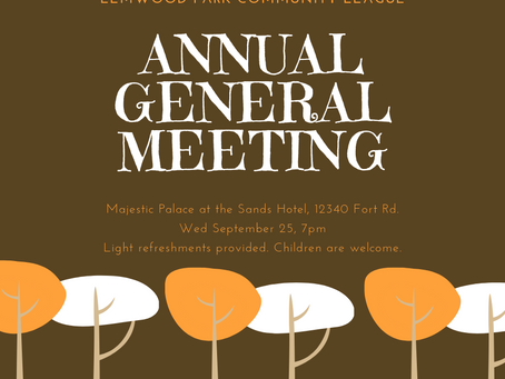 Elmwood Park AGM