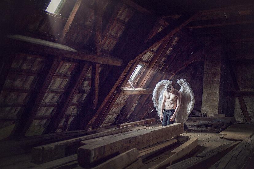 "Print ""Dachbodenengel - Attic Angel"""