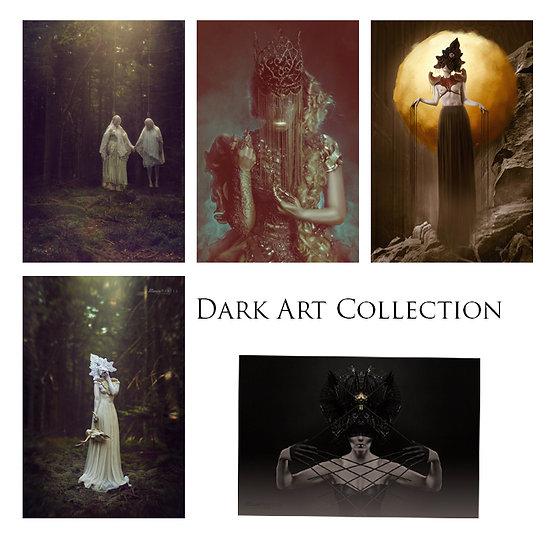 "Postcard Set ""Dark Art Collection"""