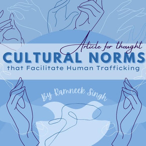 Cultural Norms that Facilitate Human Trafficking