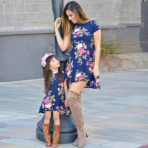 Floral Short Sleeve Mini Dress 💖