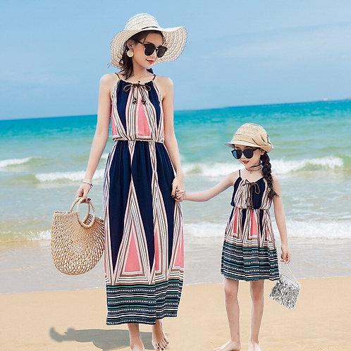 Summer Printed Pattern Cotton Dress 💖