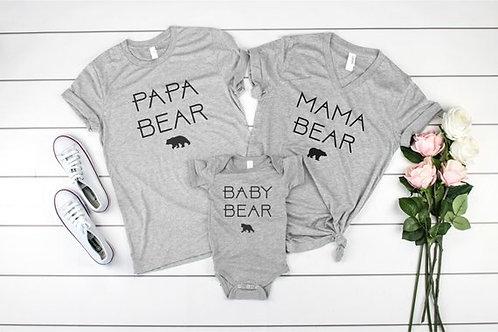 Papa Bear | Mama Bear | Baby Bear