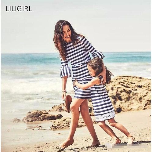 Striped Mini Summer Dress 💖