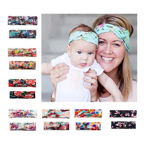 Mommy & Me Boho-Chic Turban Headband 2 Pcs Set 💖