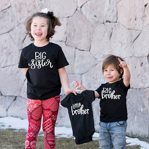 Big Sister | Brother | Little Brother Announcement T-Shirts