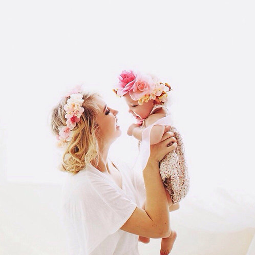 Mommy & Me Flower Headbands 2 Pcs Set 💖🌺