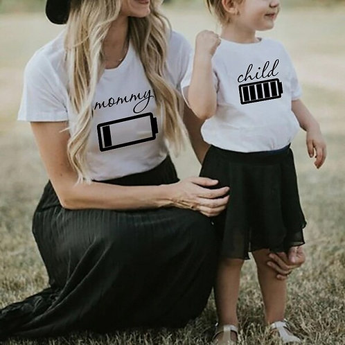 Child Fully Charged | Mommy Running on Low T-Shirts